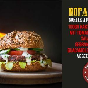 nopal burger vegetarisch vegan